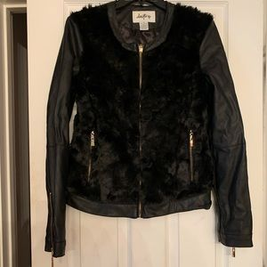 DayTrip Faux Leather and Fur Jacket Medium